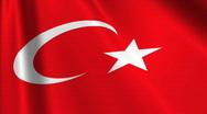 Turkey Flag Loop 03 Stock Footage