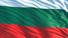 Bulgaria flag Stock Footage