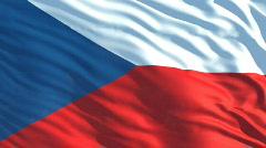 Cziech flag Stock Footage