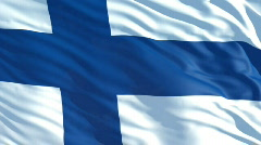 Finland flag Stock Footage