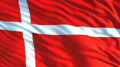 Danmark flag Stock Footage
