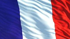 France flag Stock Footage