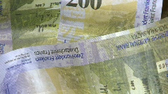 Stock Video Footage of Swiss cash 200 swiss francs
