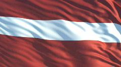Latvia flag Stock Footage