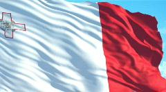 Malta flag Stock Footage