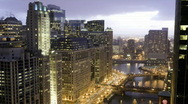 Chicago Sunset Time Lapse Stock Footage