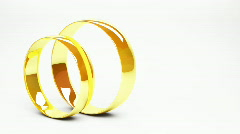 Wedding Rings - stock footage