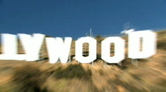 Crash Zoom of Hollywood Sign Stock Footage