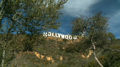 Hollywood Sign on L.A. hillside - stock footage