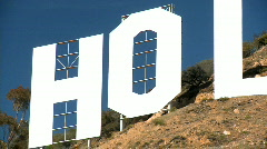 Hollywood Sign in Close-up Stock Footage