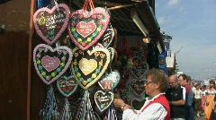 Gingerbread Hearts Munich Stock Footage