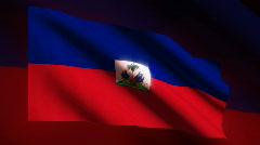 HAITI Flag - HD LOOP Stock Footage