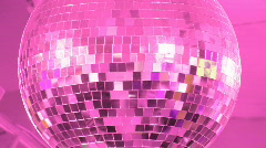 Disco Ball. Pink. Stock Footage