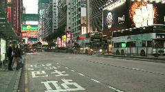 Nathan Road in Hong Kong Stock Footage