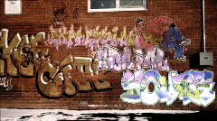 Graffiti seinään animaatio Arkistovideo