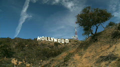 Time-lapse Clouds Over Hollywood Sign Stock Footage
