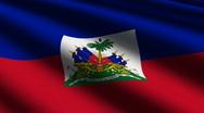 Haiti close-up flag - HD Loop Stock Footage