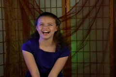 Beautiful Adolescent Girl Laughing Stock Footage