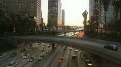 City Traffic Pollution Stock Footage