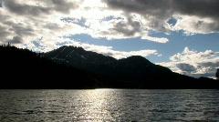 Dark and broody lake Stock Footage