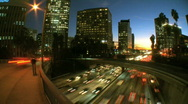 Stock Video Footage of Time-lapse City Traffic Pollution