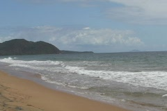 Puerto Rico - Beach in virgin state & Vieques Island Stock Footage