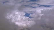 Stock Video Footage of fly through clouds slow