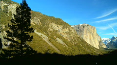 Winter in Yosemite Park Stock Footage