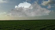 Stock Video Footage of Fast approaching storm over the prairie