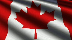 Canada Close-up Flag - HD - loop Stock Footage