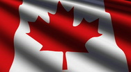 Stock Video Footage of Canada Close-up Flag - HD - loop
