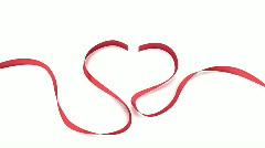 Heart ribbon 01 Stock Footage
