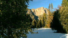 Winter Beauty in Yosemite National Park Stock Footage