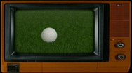 Golf Ball on Television Stock Footage