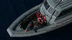 Rigid Inflatable Boat US Navy (HD) - stock footage
