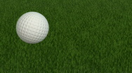 Golf Ball Close Up Stock Footage