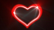 Heart Loop Neon Alpha Stock Footage
