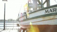 Old Boat Santa Cruz Stock Footage