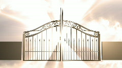 131 heavens gate gates of heaven god jesus  Stock Footage