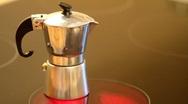 Italian coffee maker Stock Footage