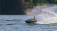 Jet Ski Jumps On Lake 03 Stock Footage