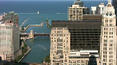 Aerial View of Chicago Waterfront - stock footage