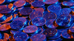 Money coins 03 Stock Footage
