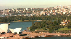 Sydney Harbor Zoom Out - stock footage
