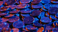 Money coins 02 Stock Footage