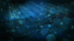 Slow moving under water particle scene Stock Footage