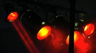Stock Video Footage of red concert lights with smoke