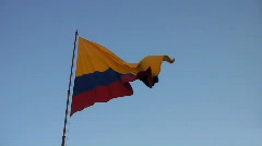 Colombian flag 01 Stock Footage