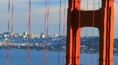 Golden Gate Bridge & City Skyline  Stock Footage