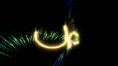 Particle trail with alpha channel Stock Footage